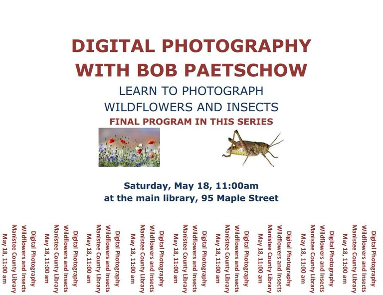 Digital Photography with Bob Paetschow — Manistee County Library